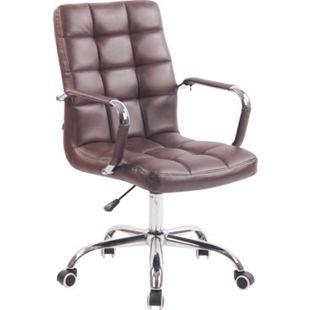 CLP Bürostuhl DELI mit Kunstlederbezug und hochwertiger Polsterung I Drehstuhl mit höhenverstellbarer Sitzhöhe... bordeauxrot - Bild 1