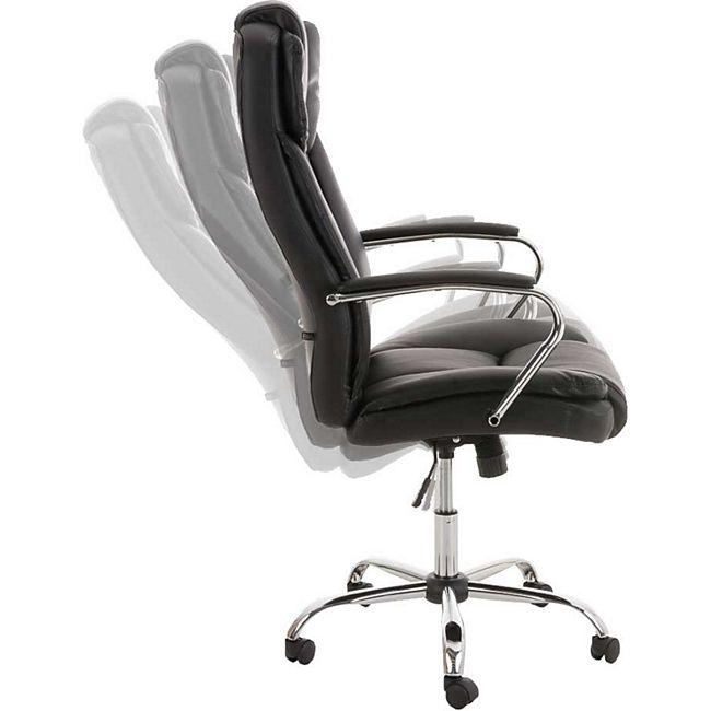 CLP XXL Bürostuhl Xanthos Mit Hochwertiger Polsterung Und Kunstlederbezug I Drehbarer Und Höhenverstellbarer Chefsessel