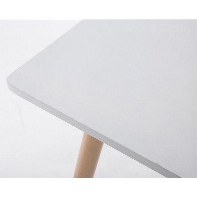 Ess Tisch BENTE, quadratisch 80 x 80 cm, Höhe 75 cm, 4 Holz Beine mit Bodenschoner natura