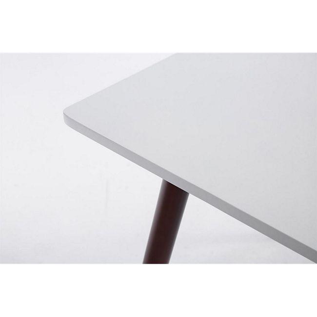 Ess Tisch BENTE, quadratisch 80 x 80 cm, Höhe 75 cm, 4 Holz Beine mit Bodenschoner cappuccino