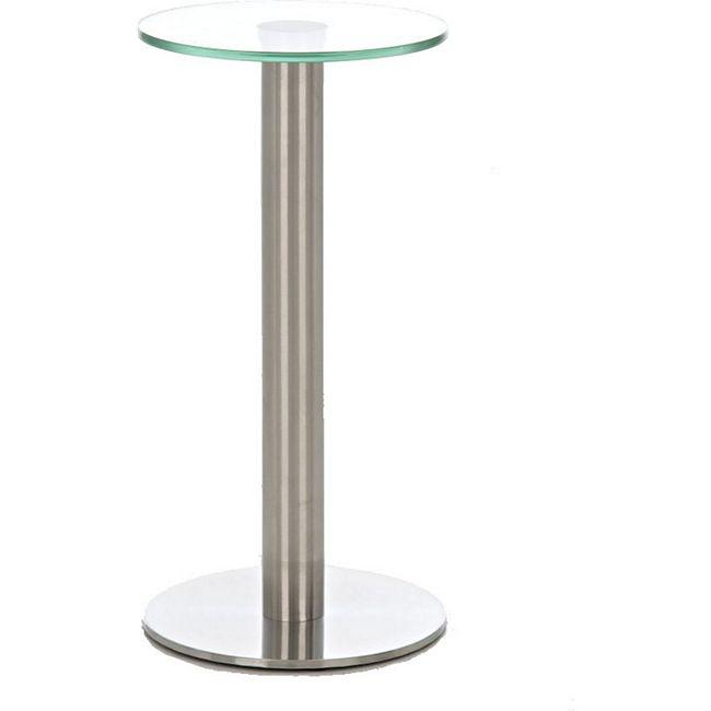 CLP Glastisch MARIDA, Beistelltisch mit Edelstahlgestell, Kaffeetisch mit einer 1 cm starken Sicherheitsglasplatte - Bild 1