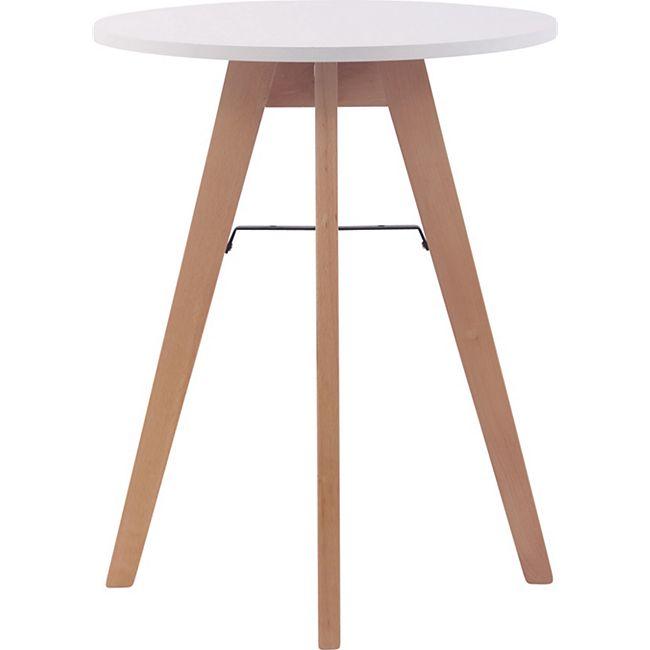 CLP Küchentisch Viktor I Esstisch Mit MDF Tischplatte I Bistrotisch Mit Buchenholzgestell... 60 cm - Bild 1