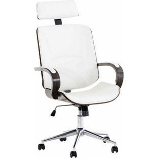 CLP Chefsessel DAYTON mit Kunstlederbezug I Bürostuhl mit Kopfstütze und Leichtlaufrollen I Höhenverstellbarer Schreibtischstuhl - Bild 1