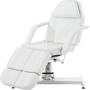 CLP SPLIT hydraulische Kosmetikliege V2 I stufenlos verstellbare Massageliege I geteiltes Fußteil verstellbar... weiß - Bild 1