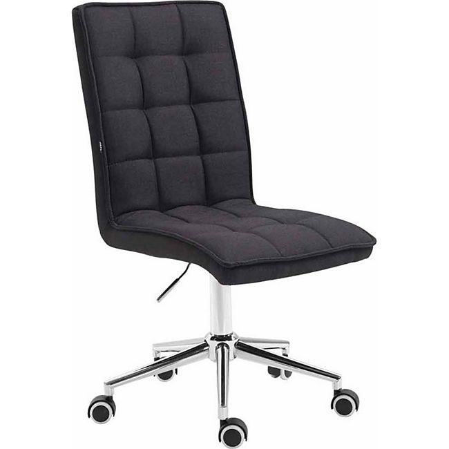 CLP Arbeitshocker PEKING V2 mit hochwertiger Polsterung und Stoffbezug   Schreibtischstuhl mit Leichtlaufrollen   Höhenverstellbarer Drehstuhl - Bild 1