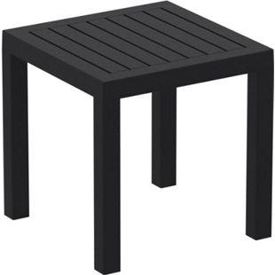CLP Beistelltisch Ocean I Wetterfester Gartentisch aus UV-beständigem Kunststoff I witterungsbeständiger Tisch... schwarz - Bild 1