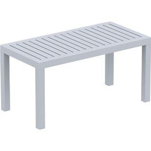 CLP Lounge Tisch OCEAN I Wetterfester Gartentisch aus UV-beständigem Kunststoff I wetterfest und UV-beständig I robuster Gartentisch... grau - Bild 1