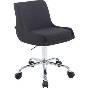 CLP Arbeitshocker CLUB mit hochwertiger Polsterung und Stoffbezug I Schreibtischstuhl mit Leichtlaufrollen I Höhenverstellbarer Drehstuhl... schwarz - Bild 1