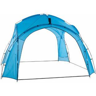 CLP Partyzelt 3,5 x 3,5 m mit LED I Garten Pavillon Inkl. Solarmodul I Gartenzelt wasserabweisend I Campingzelt mit Beleuchtung... blau - Bild 1