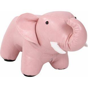 CLP Kinder Sitzhocker Elmina I Tierhocker Elefantenoptik I Fußhocker I Polsterhocker Mit Kunstleder... pink - Bild 1