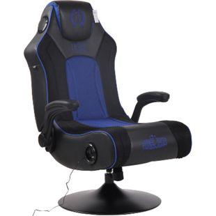 CLP Gaming Soundsessel Nevers Kunstleder I Sessel Mit 2.1-System Für Gaming Und Musik I Drehsessel Mit Bluetooth... schwarz/blau - Bild 1