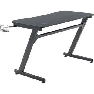 CLP Gaming Tisch Hayward I Computertisch Mit Z-Trägern I Schreibtisch Mit Kopfhörerhalterung - Bild 1