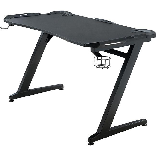 CLP Gaming Tisch Rockford I Computertisch Mit Z-Trägern I Schreibtisch Mit Kopfhörerhalterung - Bild 1