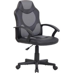CLP Kinder Bürostuhl Adale I Höhenverstellbarer Schreibtischstuhl Mit Armlehnen I Drehstuhl Mit Leichtlaufrollen... schwarz/grau - Bild 1