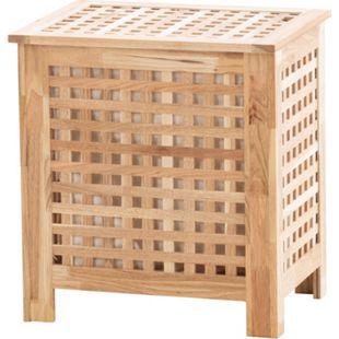 CLP Wäschebehälter Tarras aus Holz I Wäschebox mit einem Fach I Wäschetruhe mit Deckel... walnuss - Bild 1