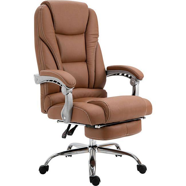 CLP Bürostuhl Pacific Mit Kunstlederbezug I Schreibtischstuhl Mit Laufrollen I Relaxsessel Mit Ausziehbarer Fußstütze - Bild 1