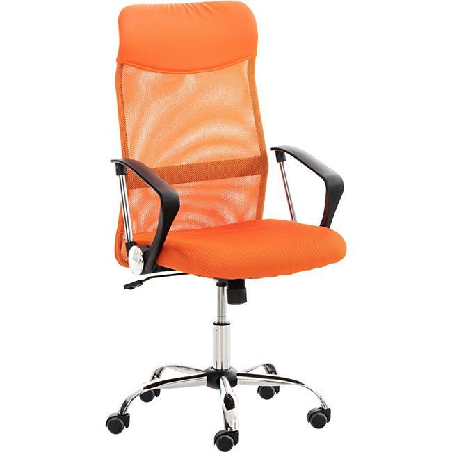 CLP Bürostuhl Washington I Ergonomischer Drehstuhl I Höhenverstellbar Mit Wippmechanik... orange - Bild 1