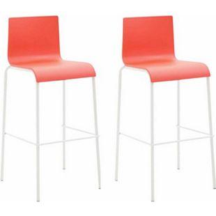 CLP 2er Set Barhocker Kado Mit Kunststoffsitz Und Rundem 4-Fußgestell I Barstuhl I Sitzhöhe: 75 cm I Verschiedene Farbvariationen - Bild 1