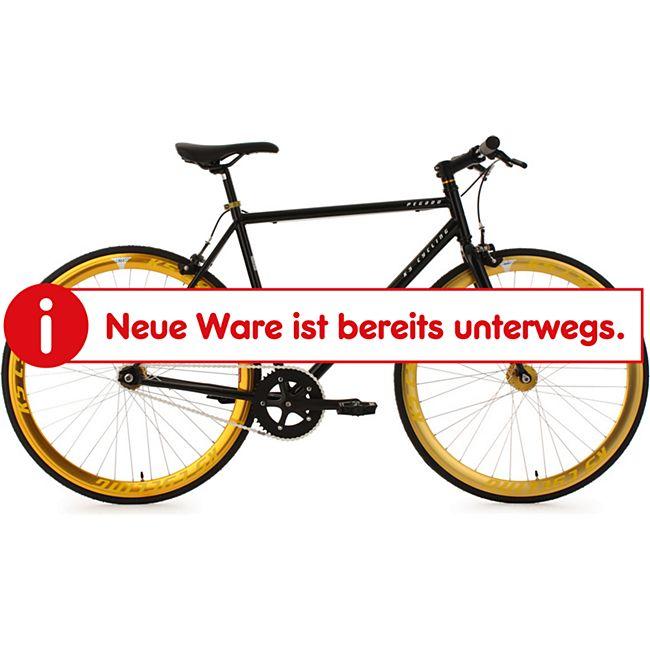 KS Cycling Fixie Fitnessbike 28 Zoll Pegado schwarz-gold - Bild 1