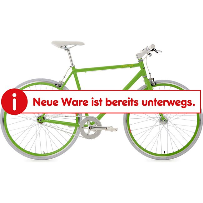 KS Cycling 28 Fahrrad Fixie Singlespeed Flip Flop grün-weiß - Bild 1