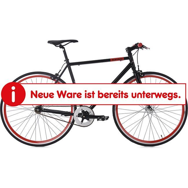 KS Cycling 28 Fahrrad Fixie Singlespeed Flip Flop schwarz-rot - Bild 1