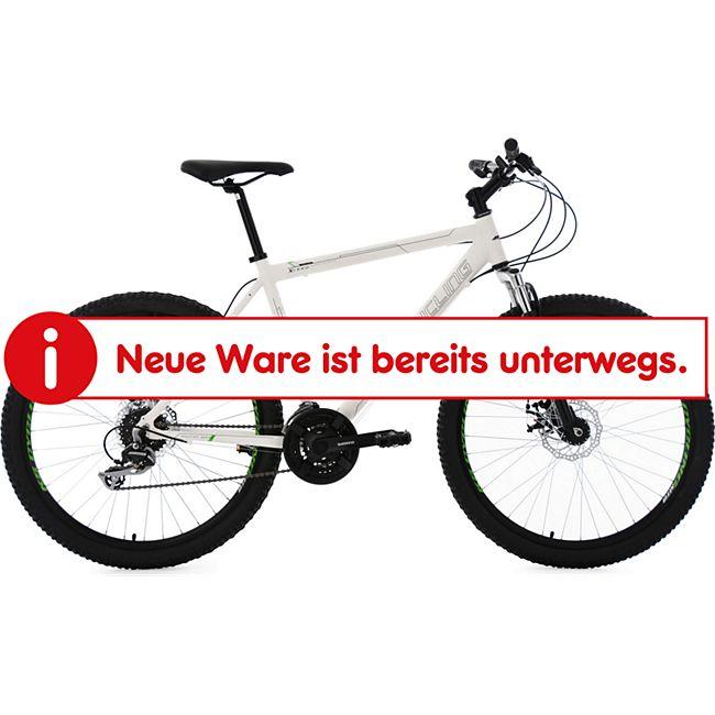 KS Cycling Hardtail Mountainbike 24 Gänge Xceed weiß 26 Zoll - Bild 1