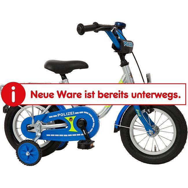 Bachtenkirch Bachtenkirch Kinderfahrrad Polizei 12,5 Zoll silber-blau - Bild 1