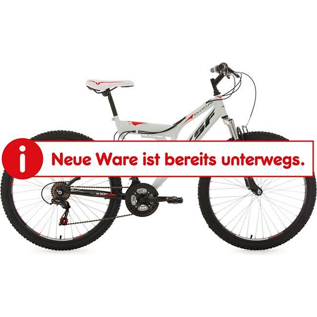 KS Cycling 26 Zoll Fully Mountainbike XSF weiß-rot - Bild 1