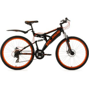 KS Cycling Fully Mountainbike Bliss 26 Zoll schwarz-orange - Bild 1