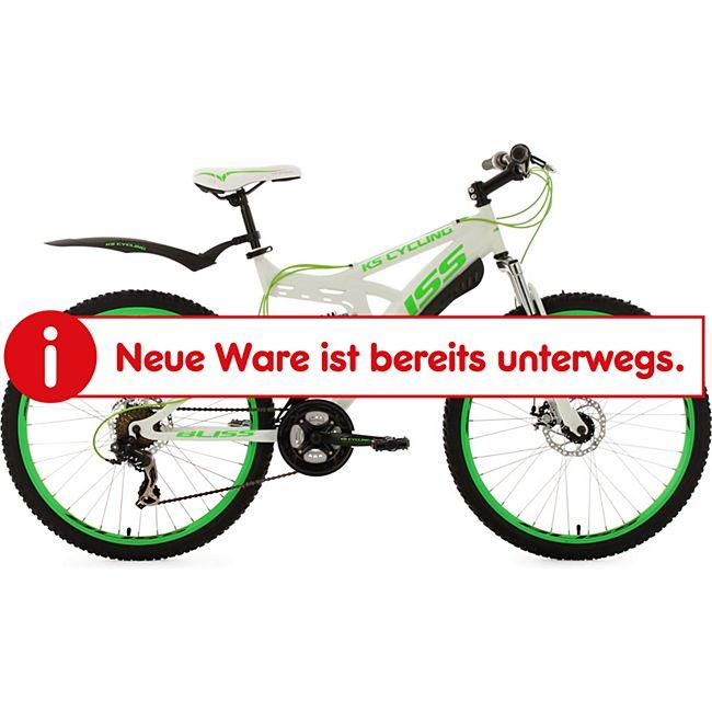 KS Cycling Fully Mountainbike Bliss 26 Zoll weiß-grün - Bild 1