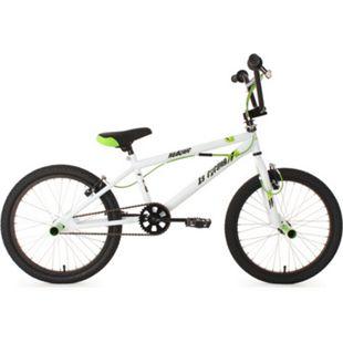 KS Cycling 20 Zoll Freestyle BMX Hedonic Weiß-Grün - Bild 1