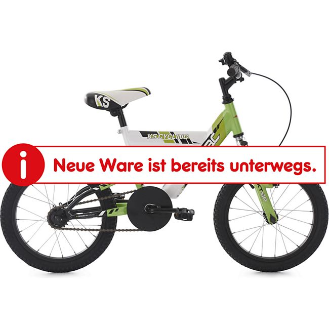 KS Cycling Kinderfahrrad 16'' Zodiac grün-weiß RH 30 cm - Bild 1