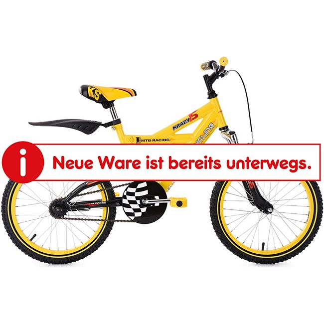 KS Cycling Kinderfahrrad Fully Kinder-Mountainbike 18 Zoll Krazy - Bild 1