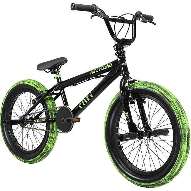 KS Cycling BMX Freestyle 20'' Fatt schwarz-grün - Bild 1