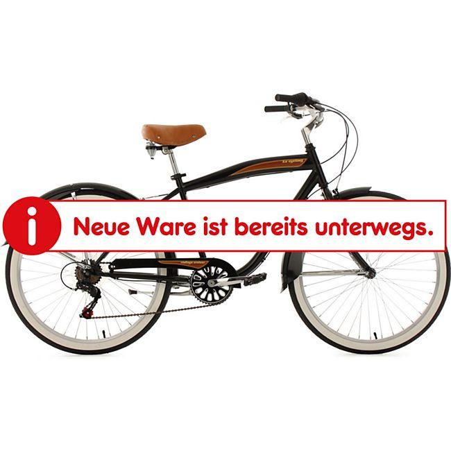 KS Cycling Beachcruiser 26 Zoll Vintage schwarz 6-Gänge - Bild 1