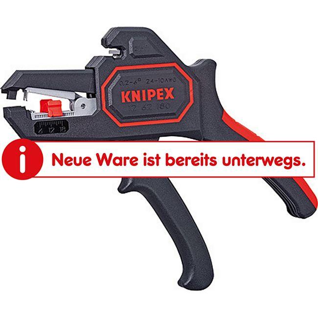 Knipex Abisolierzange Selbsteinstellend 180 mm 12 62 180 E454430  1262180 - Bild 1