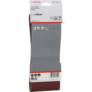 Bosch 3x Schleifbänder 100x560mm K 80 X440 Best for Wood & Paint  2608606115 - Bild 1