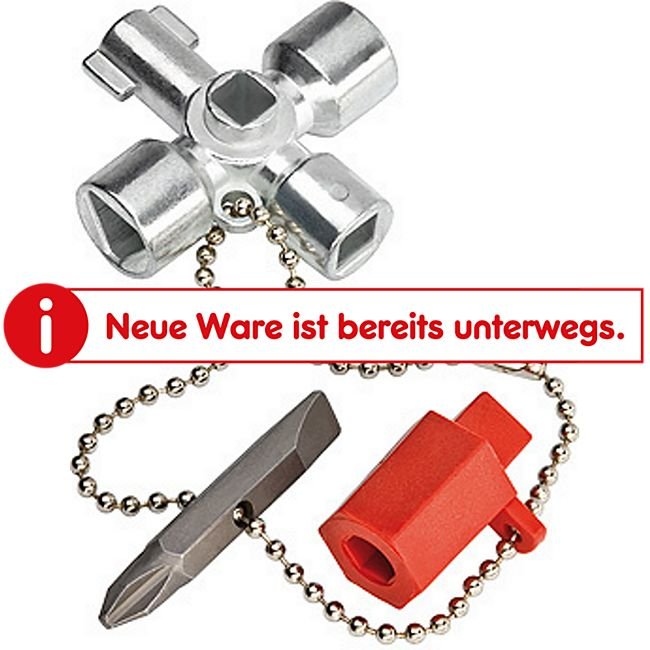 Knipex Schaltschrankschlüssel klein 00 11 02 / 1531892  001102 - Bild 1