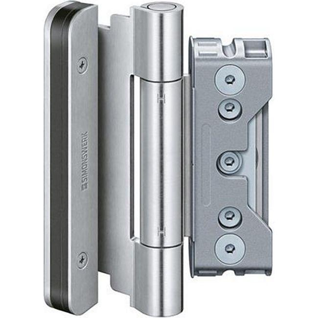 Simonswerk 1 Satz (3 STK) BAKA Protect Haustürbänder 4010 3D FD aus Edelstahl 5080822004085 Fitschen - Bild 1