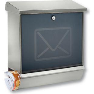 Burg-Wächter Briefkasten Lucca-Set 37130 NI-Letter aus Edelstahl 37130NI Burgwächter - Bild 1