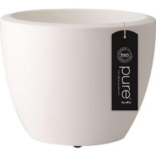 Elho Pure Soft Round Ø60xH45 cm, Rollen, Weiß - Bild 1