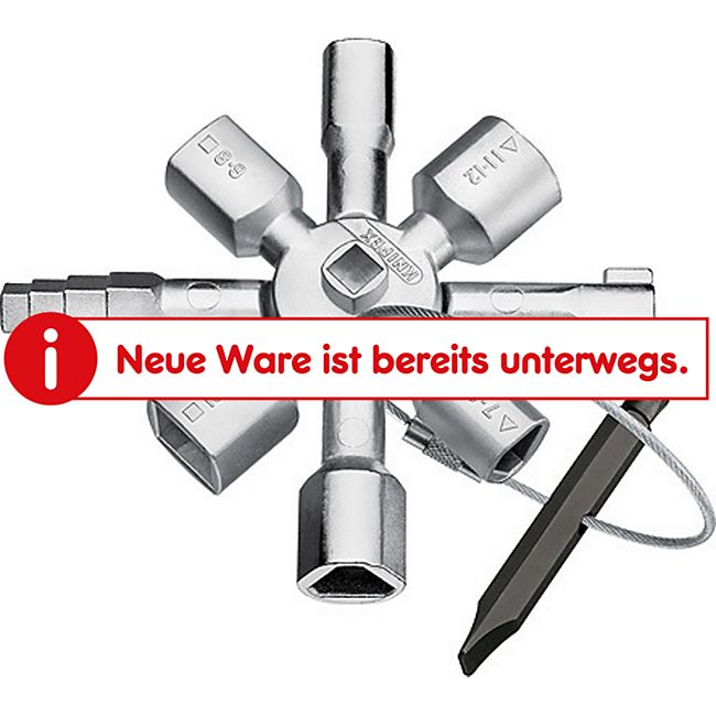 "Knipex Schaltschrankschlüssel ""Twin KEY"" 00 11 01 E 452119  001101 - Bild 1"