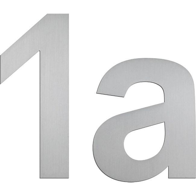 """Serafini Hausnummern """"4"""", Nr. 30.6404.03Höhe 150mm, Stärke 3mm, Edelstahl V4A - Bild 1"""