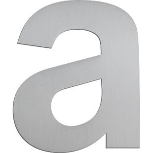 """Serafini Buchstaben """"a"""" Nr. Höhe 125mm Stärke 3mm Edelstahl V4A 30.6410.03 - Bild 1"""