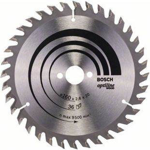 Bosch Kreissägeblatt Optiline Wood 160x20/16x2,6mm Z36WZ 2 608 640 597 - Bild 1