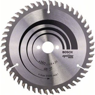 Bosch Kreissägeblatt Optiline Wood 160x20/16x2,6mm Z48WZ  2608640732 - Bild 1