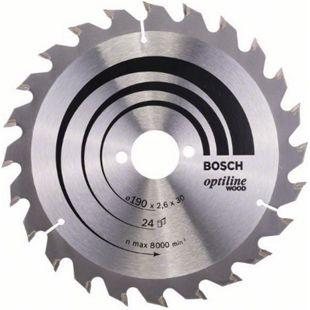 Bosch Kreissägeblatt Optiline Wood 190x30x2,6mm Z24WZ  2608640615 - Bild 1