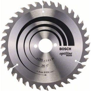 Bosch Kreissägeblatt Optiline Wood 190x30x2,6mm Z36WZ 2 608 640 616 - Bild 1