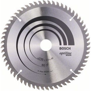 Bosch Kreissägeblatt Optiline Wood 235x30/25x2,8mm Z60WZ 2 608 641 192 - Bild 1
