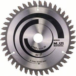 Bosch Kreissägeblatt Multi Material 160x20/16x2,4mm Z42TR-F  2608640503 - Bild 1